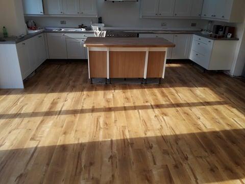 New Kitchen Flooring Cardiff Using Karndean Van Gogh